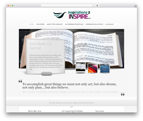 SimplePress WordPress template - inspirations2inspire.com