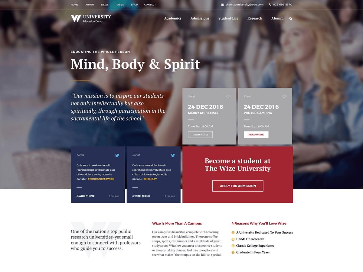 Wizeedu - Child template WordPress