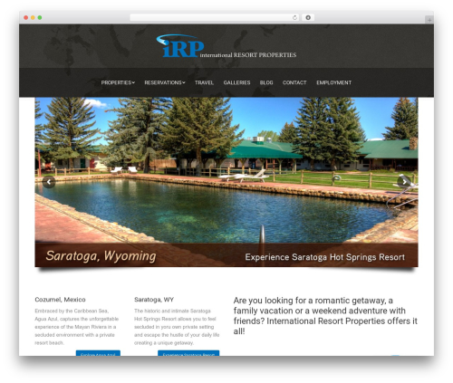 WordPress template The7 - iresortproperties.com