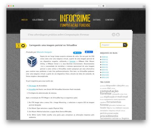Best WordPress template Writer Child - infocrime.com.br