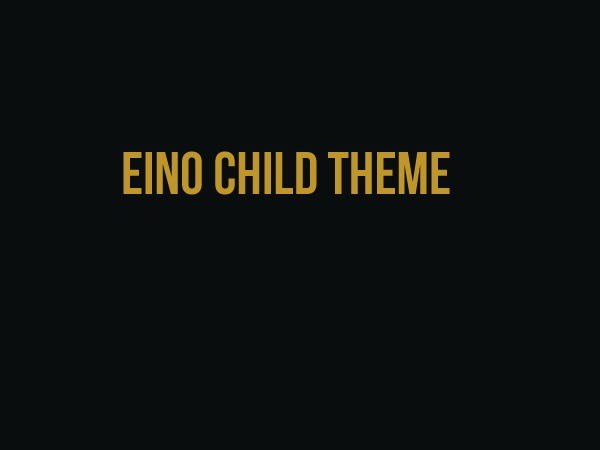 Eino Child theme WordPress