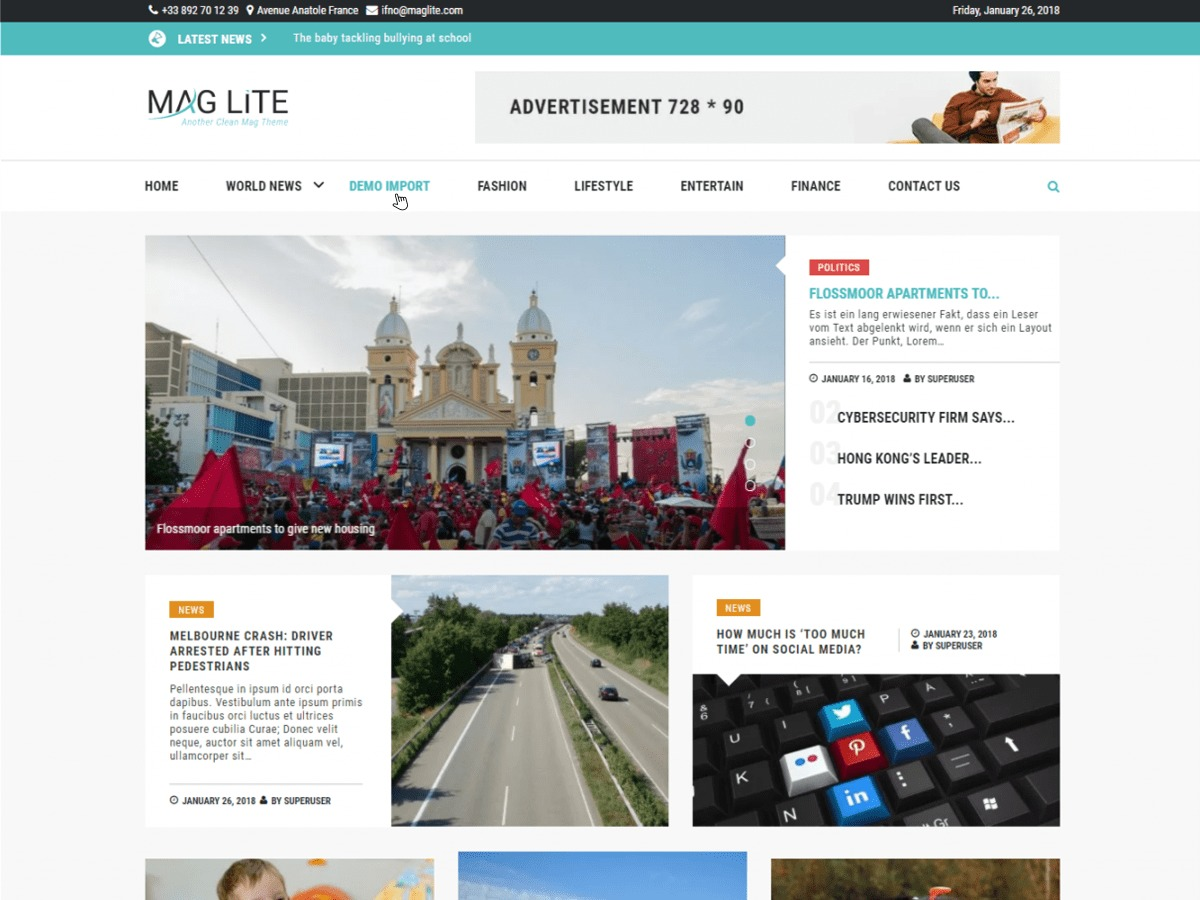 Mag Lite best WordPress magazine theme