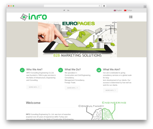 Micron WordPress theme - infodanismanlik.com