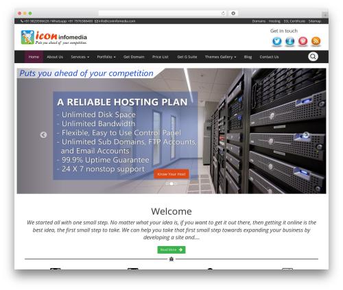 Openstrap best free WordPress theme - iconinfomedia.com