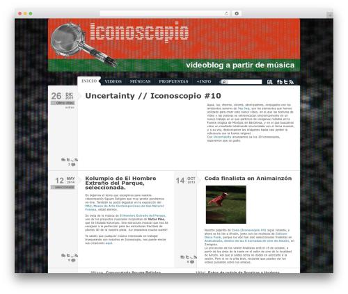 Typebased premium WordPress theme - iconoscopio.net