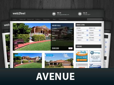 Avenue real estate template WordPress