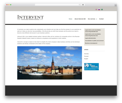 Clearly Modern WP theme - interventlaw.com