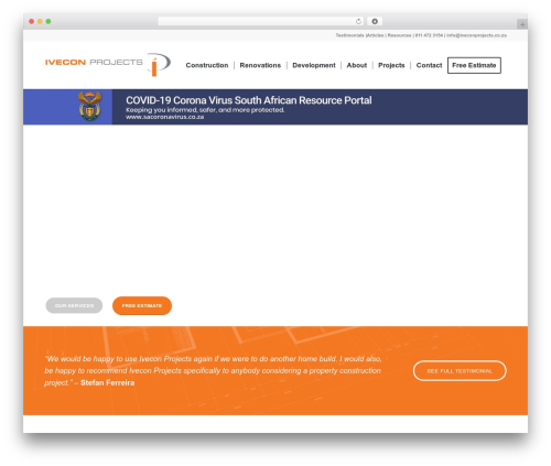 Enfold company WordPress theme - iveconprojects.co.za