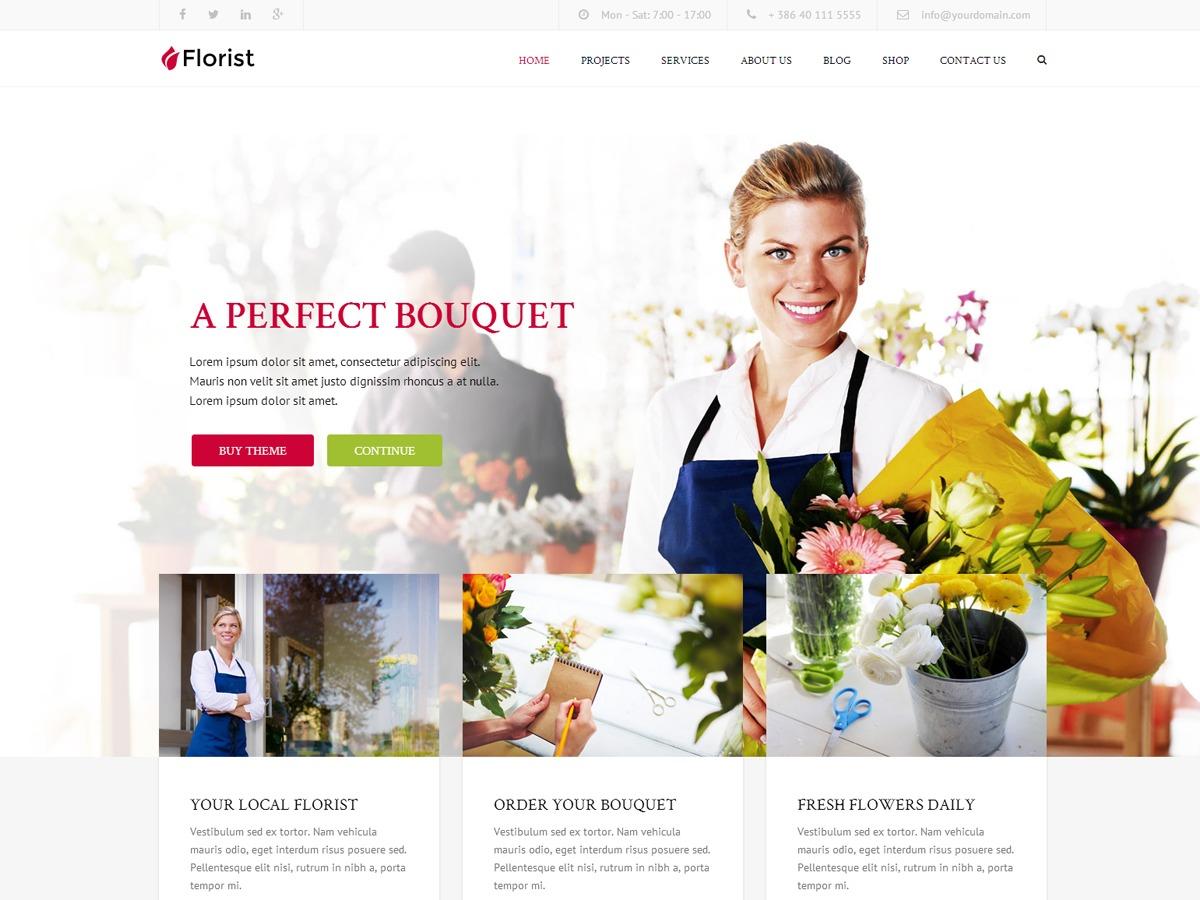 Florist best portfolio WordPress theme
