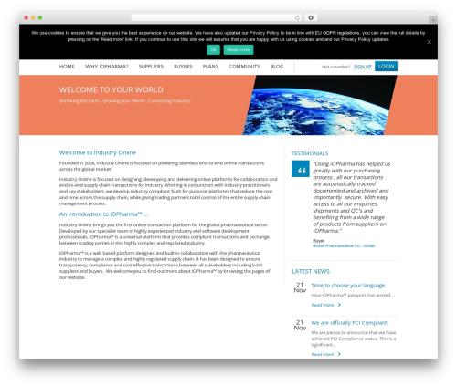 Free WordPress Easy Video Player plugin - io-pharma.com/about-industry-online