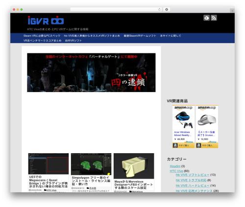 Simplicity2 best WordPress template - indiegame-japan.com