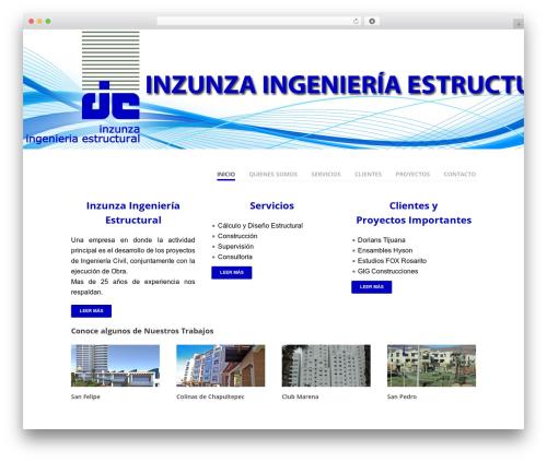 Vanguard best WordPress theme - inzunzaingenieriaestructural.com