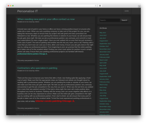 Visual WordPress theme free download - in2personalised.com