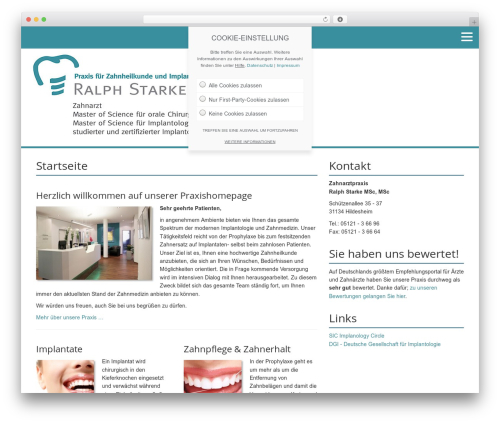 White free WP theme - implantologie-hildesheim.de