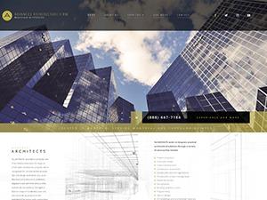 WordPress template Architecture 4 - V8