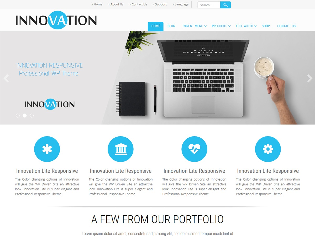 Innovation Lite personal WordPress theme