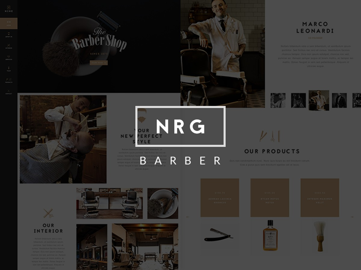 NRGBarberShop best WooCommerce theme