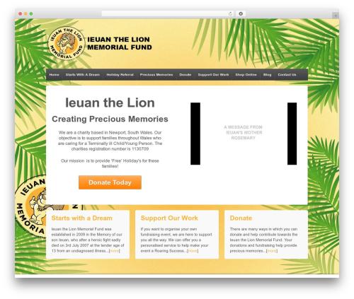Responsive free WordPress theme - ieuanthelion.com
