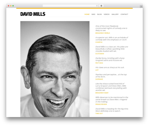 Revolution best WordPress template - itsdavidmills.com