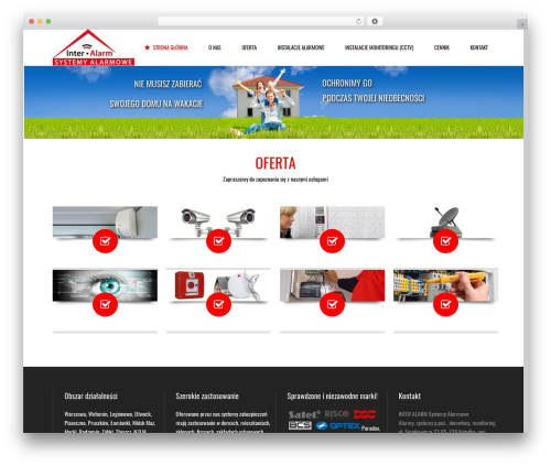 Subway business WordPress theme - inter-alarm.pl