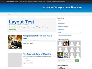 WordPress template Bootstrap - Extend