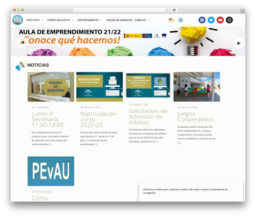 Betheme WordPress template - iesvalledelazahar.com
