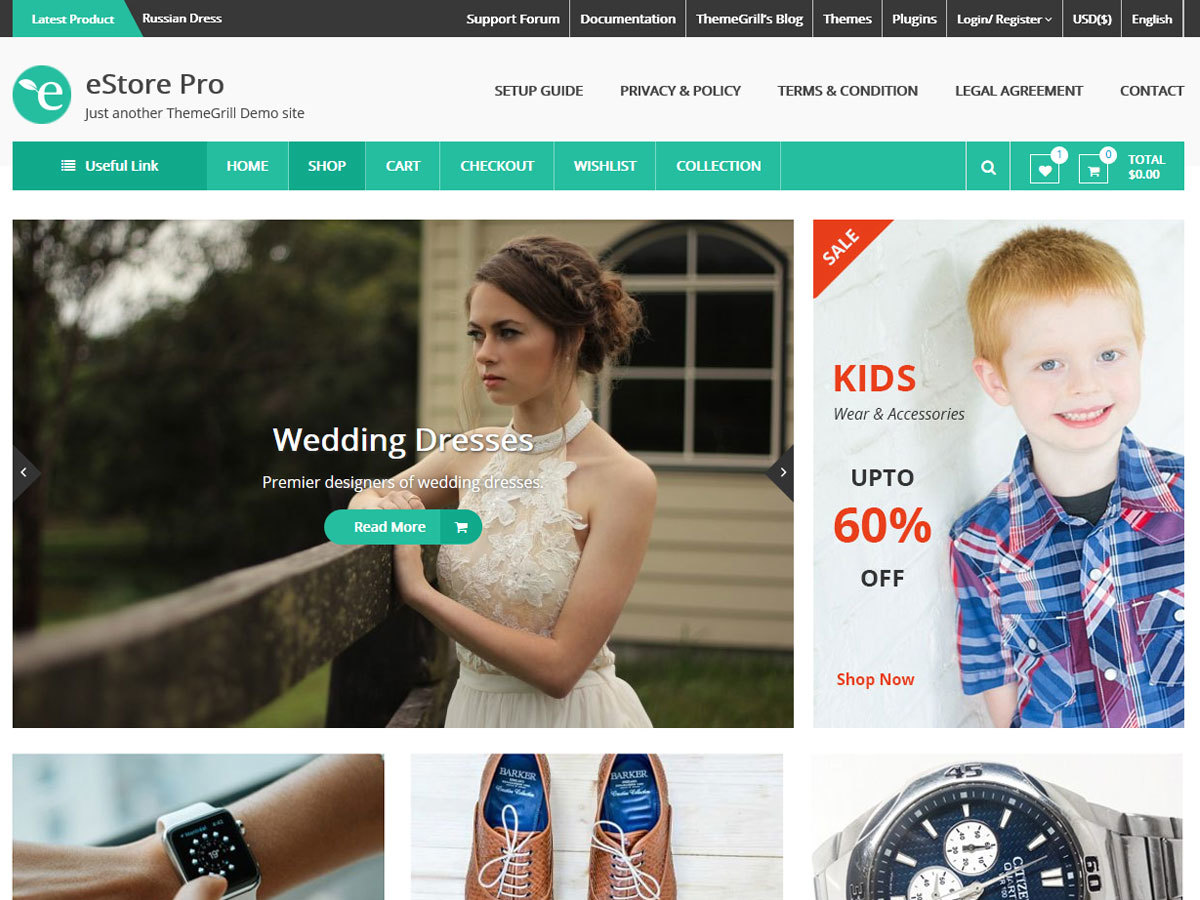 eStore Pro WordPress ecommerce template