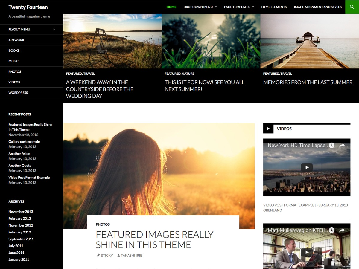 Imaresova premium WordPress theme