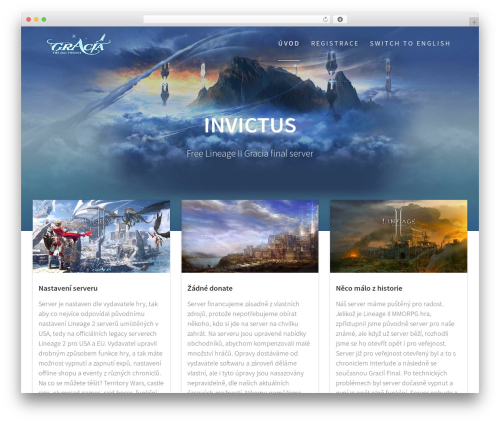 Free WordPress One Page Express Companion plugin - invictus.cz