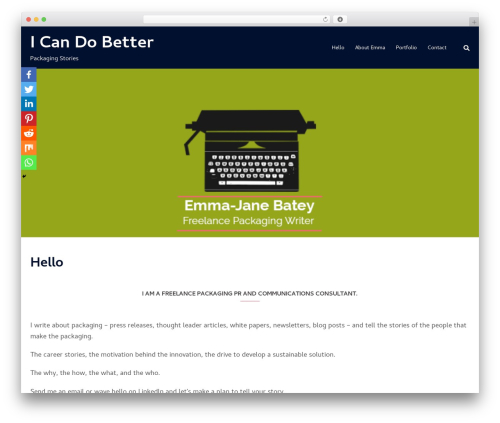 Sydney WordPress theme - icandobetter.co.uk