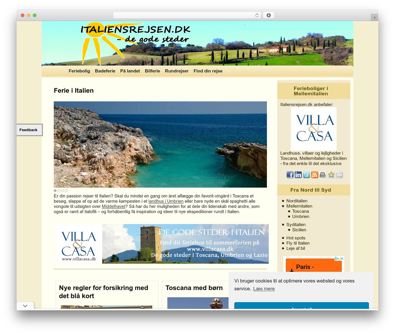 Weaver WordPress ecommerce template - italiensrejsen.dk
