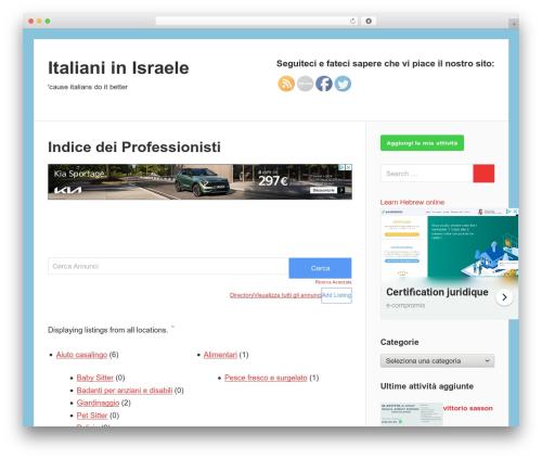 Free WordPress All For Adsense plugin - italkim.org