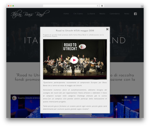 WordPress website template Astrid - italianbrassband.com