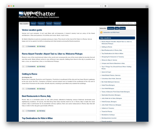 WordPress website template WP-Chatter - italy-vacation.info