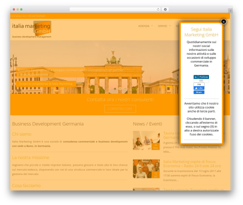 AccessPress Pro WordPress template - italiano.italia-marketing.de