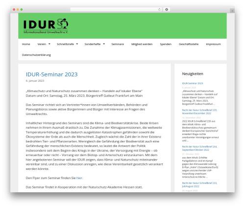 GeneratePress WordPress website template - idur.de