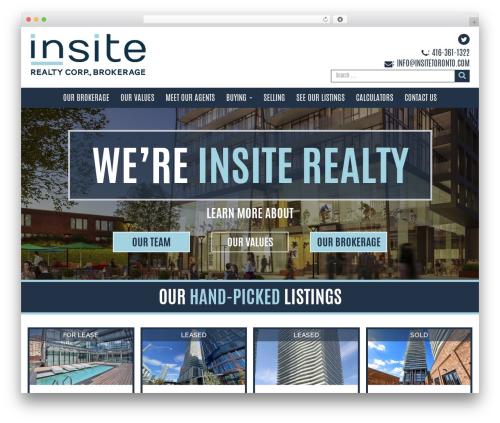 Insite Theme real estate WordPress theme - insitetoronto.com