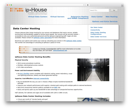 ipHouse Olympus WordPress template for business - iphouse.com/data-center-hosting