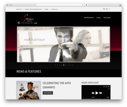 WordPress wolf-portfolio plugin - innsbruckrecords.com