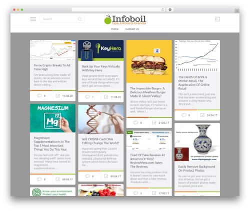 PinThis WordPress website template - infoboil.com