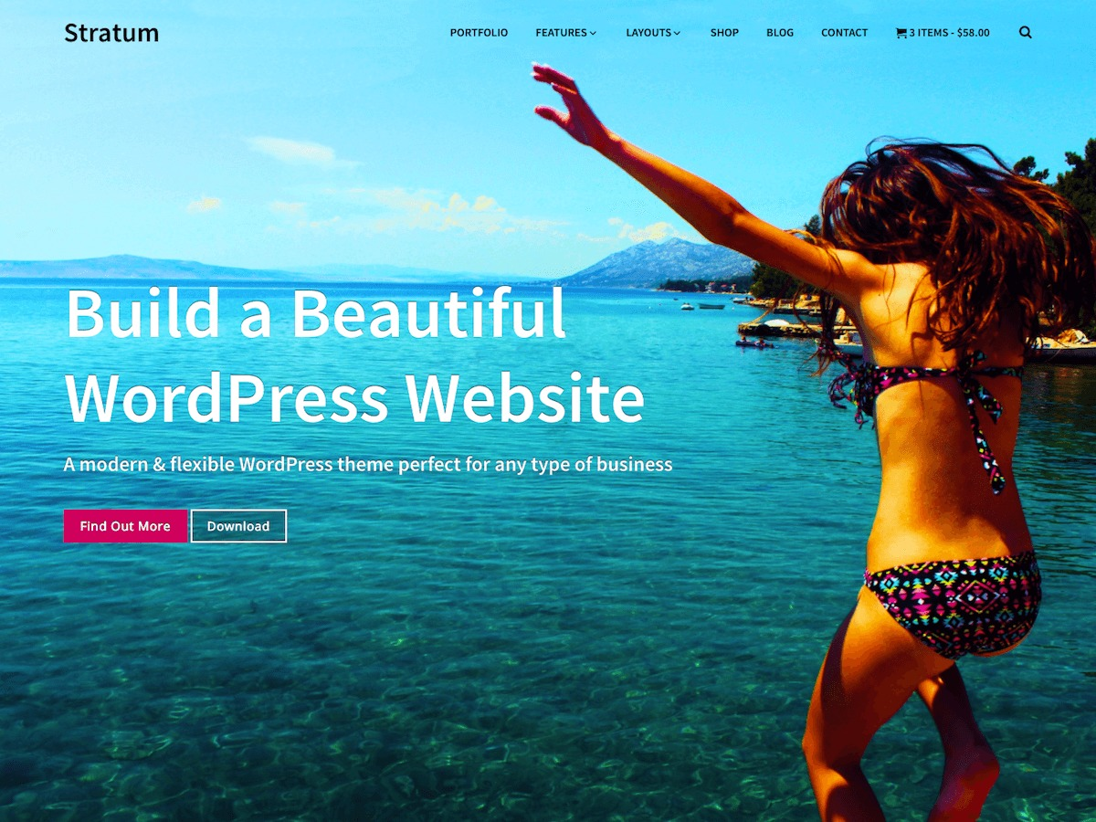 Stratum WordPress blog template