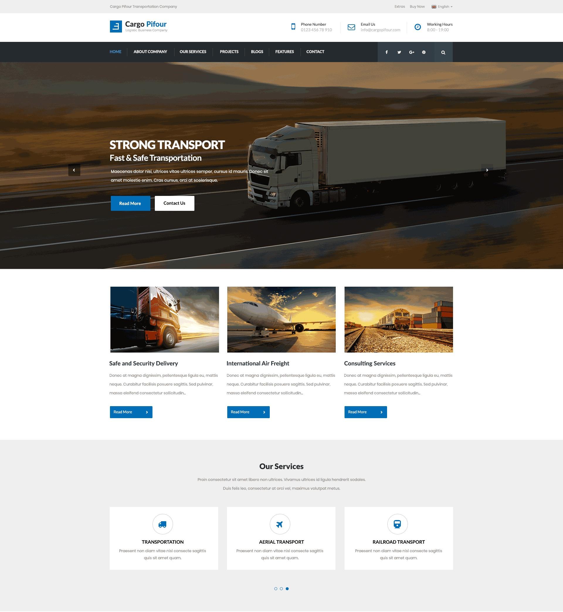 WordPress theme Cargo Pifour