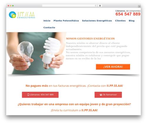 WP template Progressive Wordpress Theme - iippssaa.es