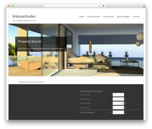 WP theme Fresh - ihf-omnipress.com/wp-signup.php?new=sequelsrealty.com