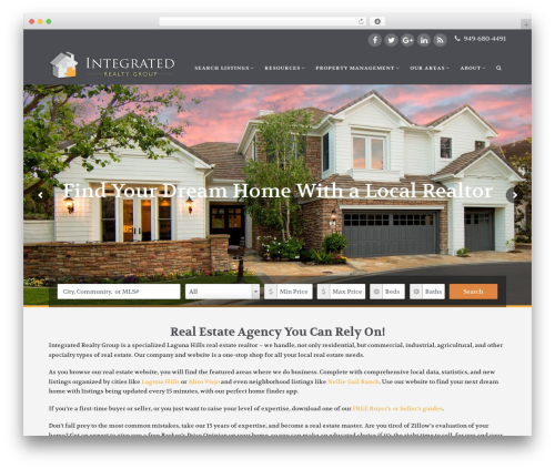 X real estate template WordPress - integrated-realty.net