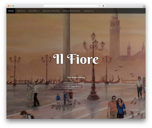 Arcade Basic WordPress template free - ilfiorerestaurant.com
