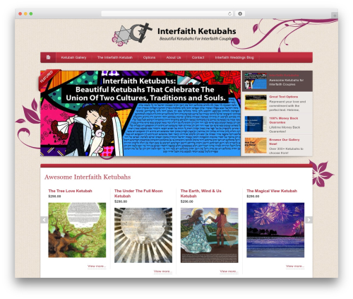 Best WordPress theme Bellissima - interfaithketubahs.com