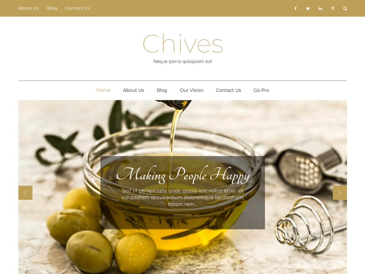 Chives WordPress portfolio template