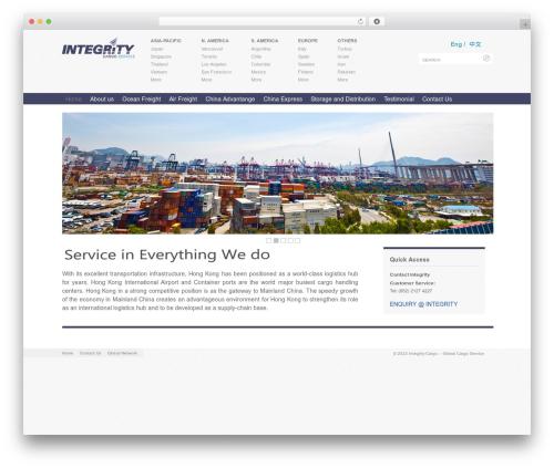 DocPress free WordPress theme - integrity-cargo.com