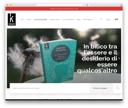 Livre WordPress website template - inknot.it